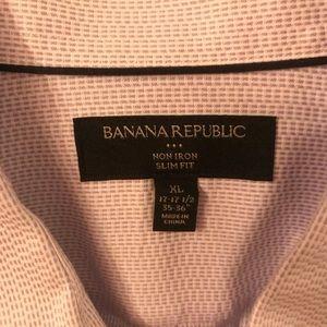 "Banana Republic XL 17.5"" neck, dress Oxford"